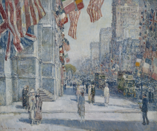 Childe Hassam (1859–1935). Early Morning on the Avenue in May 1917