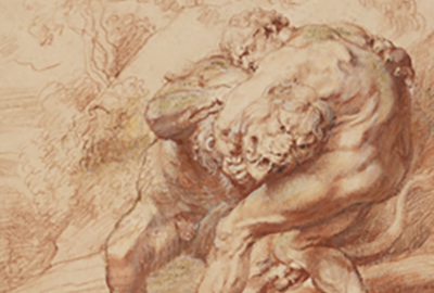 Peter Paul Rubens, Hercules Strangling The Nemean Lion, (ca. 1620) (detail)