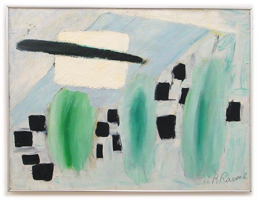 Roger Raveel. Space in a landscape. 1956. Flemish Community/Roger Raveelmuseum